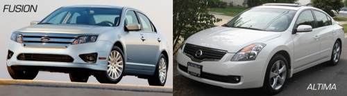 Ford Fusion and Nissan Altima