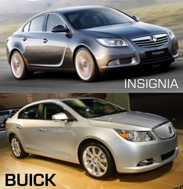 Vauxhall Insignia and Buick LaCrosse